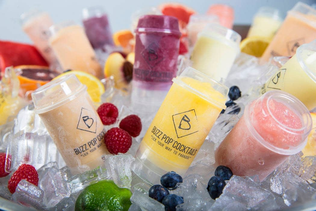 Buzz Pops turn fruity alcohol-infused cocktails into frozen push pops